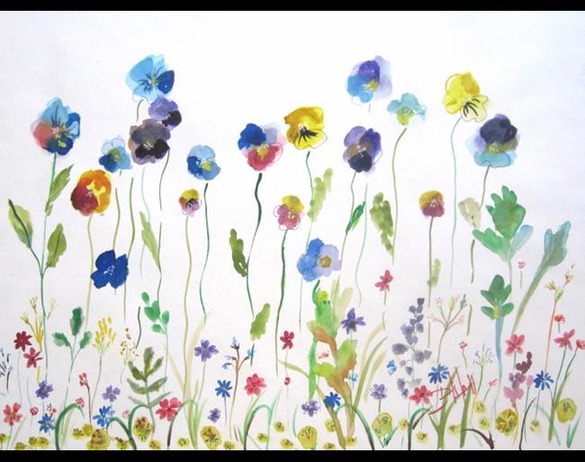 Art: Flower Garden No.2 by Artist Delilah Smith