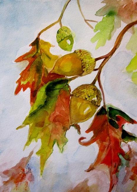 Art: Oak Leaves by Artist Delilah Smith