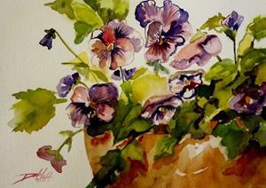 Detail Image for art Precious Pansies