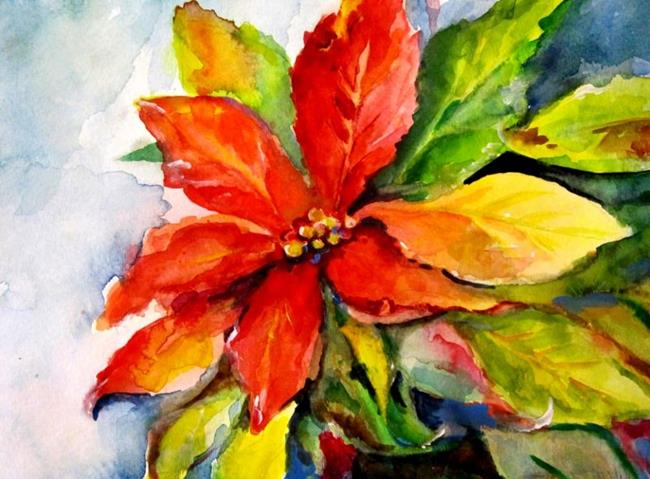 Art: Poinsettia by Artist Delilah Smith
