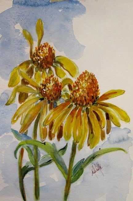 Art: Cone Flowers by Artist Delilah Smith