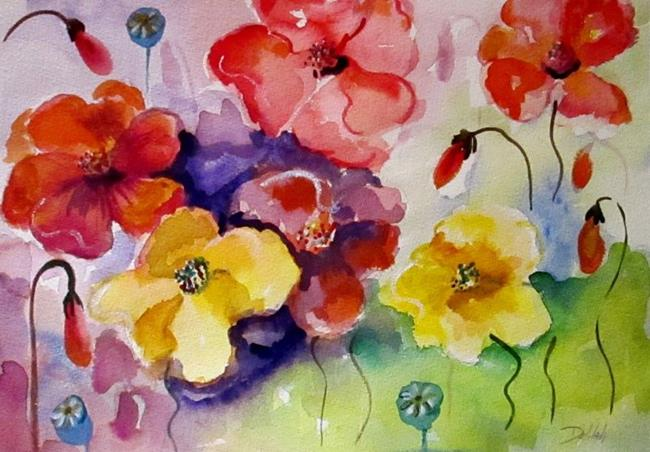 Art: Poppies of Color by Artist Delilah Smith