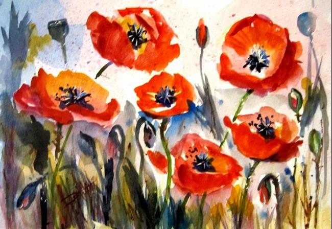 Art: Poppy Field by Artist Delilah Smith