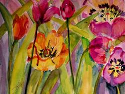 Art: Tulips by Artist Delilah Smith