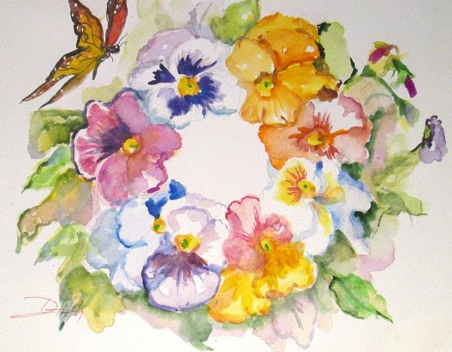 Art: Floral Wreath by Artist Delilah Smith