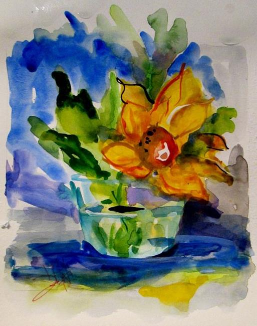 Art: Yellow Flower No. 2 by Artist Delilah Smith