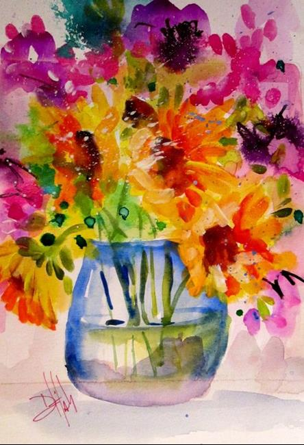 Art: Vase 0f Flowers by Artist Delilah Smith