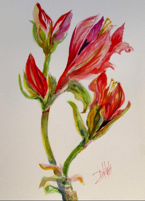 Art: Amaryllis by Artist Delilah Smith