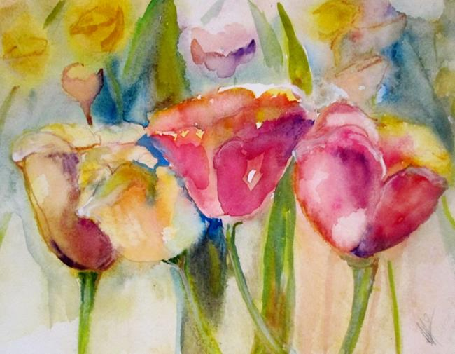 Art: Tulips-SOLD by Artist Delilah Smith