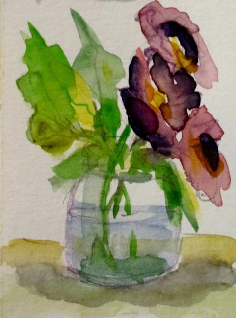 Art: Still Life Purple Flowers by Artist Delilah Smith