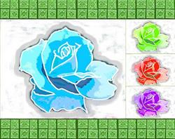 Art: Digital Rose Mosaic by Artist Joan Hall Johnston