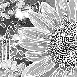 Art: Backyard Sunflower 2 by Artist Joan Hall Johnston