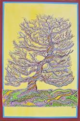 Art: Pomegranite Bonsai by Artist Joan Hall Johnston