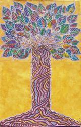 Art: Twisted Tree by Artist Joan Hall Johnston