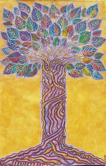 Art: Twisted Tree by Artist Joan Hall Johnston