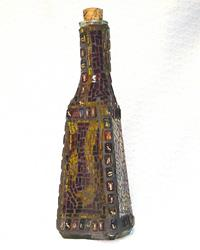 Art: Zodiac Bottle (sold) by Artist Dorothy Edwards