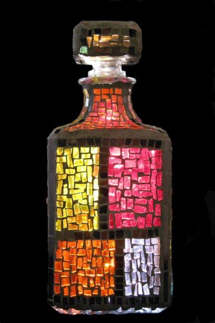 Art: Color Block Bottle (available) by Artist Dorothy Edwards