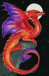 Art: Ember Dragon by Artist Nico Niemi