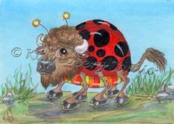 Art: Lady Bug Buffalo Shuffle by Artist Kim Loberg