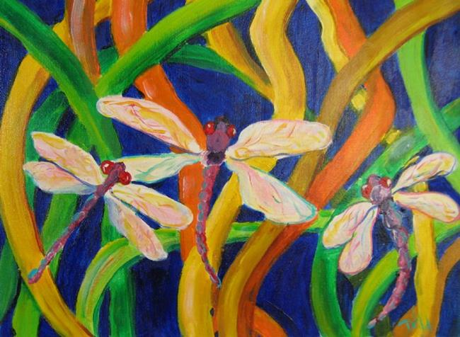 Art: Dragonflies, SOLD by Artist Delilah Smith