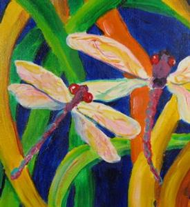 Detail Image for art Dragonflies, SOLD