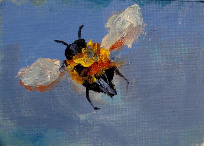 Art: Little Bee Aceo-SOLD by Artist Delilah Smith