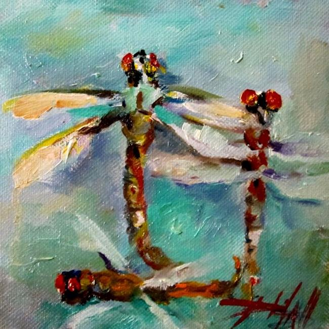Art: Dragonflies No.2 by Artist Delilah Smith