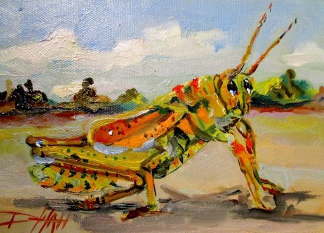Art: Grasshopper by Artist Delilah Smith