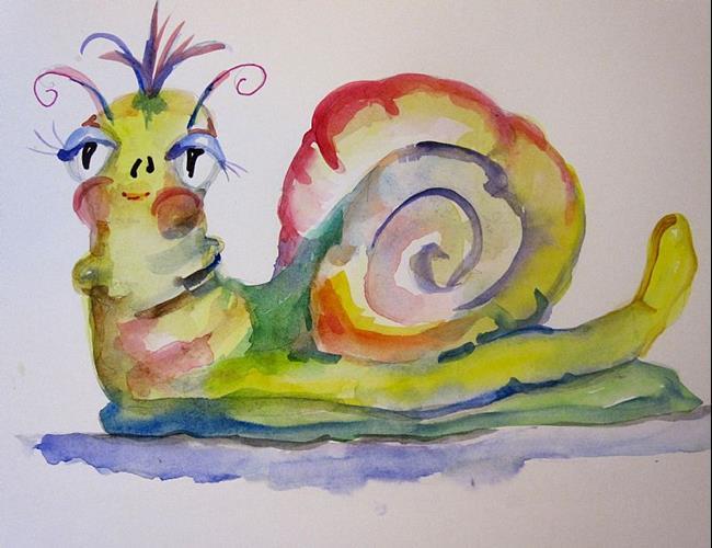 Art: Whimsical Snail by Artist Delilah Smith