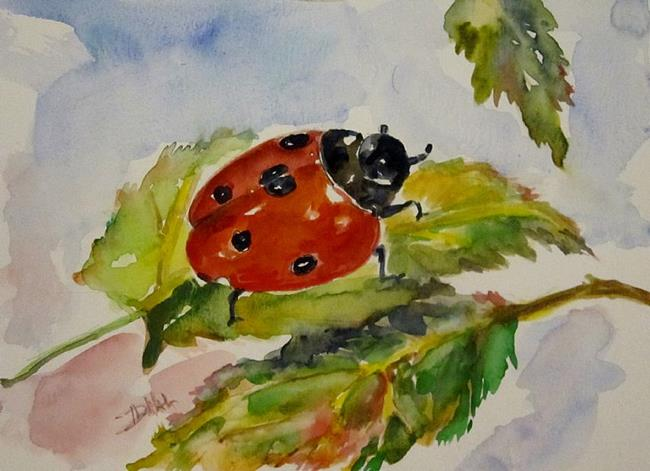 Art: Fall Ladybug by Artist Delilah Smith