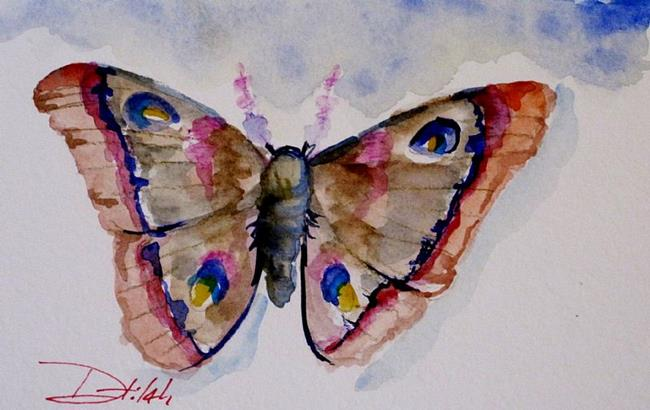 Art: Pink Moth by Artist Delilah Smith