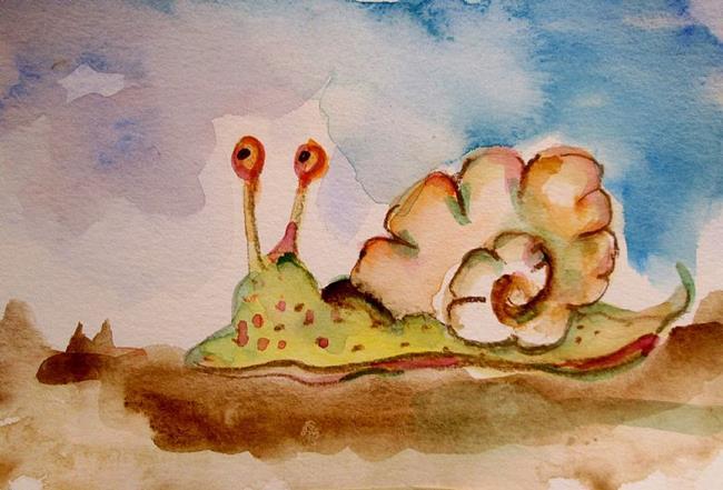Art: Curious Snail by Artist Delilah Smith