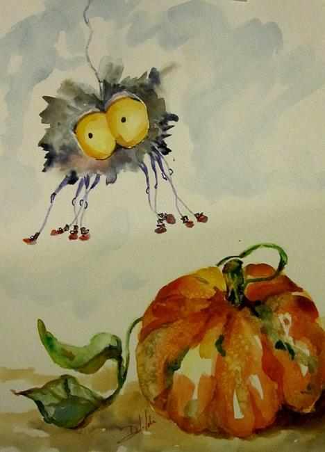 Art: Incy Wincy Spider-SOLD by Artist Delilah Smith