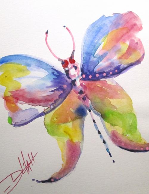 Art: Colorful Butterfly by Artist Delilah Smith