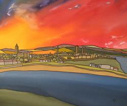 Art: St Andrews Sun by Artist Martin Devine