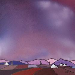 Art: Purple Patch by Artist Martin Devine