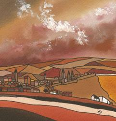 Art: Earthly St. Andrews by Artist Martin Devine