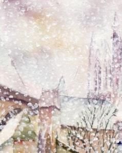 Detail Image for art Heavy snowfall, Lincoln Cathedral refectory