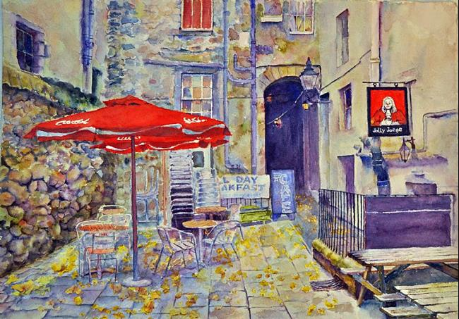 Art: The Jolly Judge, Edinburgh by Artist John Wright