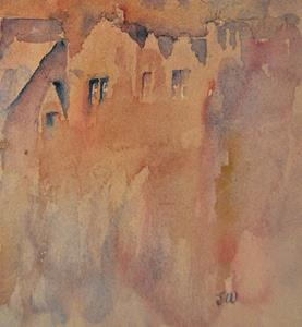Detail Image for art Edinburgh castle (from the Grassmarket)