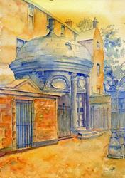 Art: Mausoleum, Greyfriars Kirkyard, Edinburgh by Artist John Wright