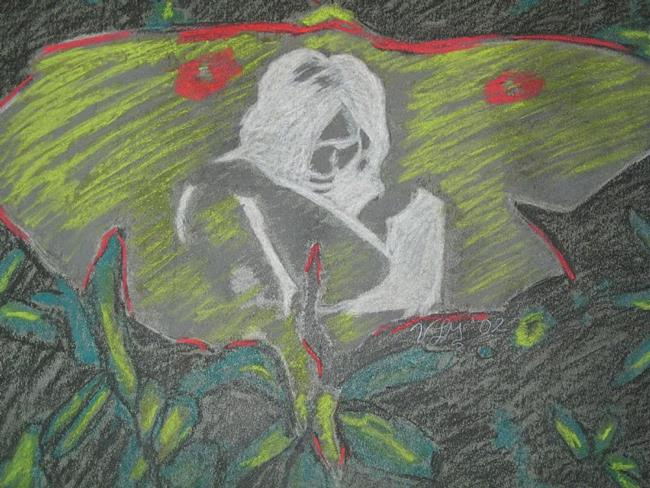 Art: On the wings of a Luna Moth by Artist Vic