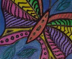 Art: Butterfly   5 x 5  by Artist Kim Wyatt