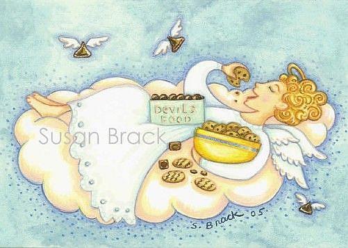 Art: GIRLFRIEND Blank Card by Artist Susan Brack