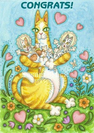 Art: Hiss N' Fitz  CONGRATS! Card by Artist Susan Brack