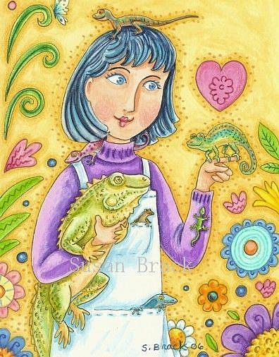 Art: FRIENDSHIP Blank Card by Artist Susan Brack