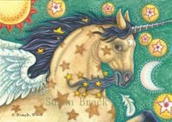 Art: Fantasy Series : STAR TREKKER  Blank Note Card by Artist Susan Brack