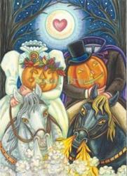 Art: Halloween Series : Inside HAPPY HALLOWS EVE    Card by Artist Susan Brack