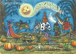 Art: Halloween: WHEN ZOMBIES WALK & GOBLINS TROT It's The Hallows Eve Parade by Artist Susan Brack