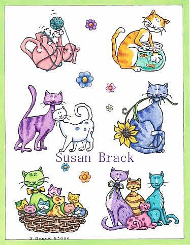 Art: RAINBOW CAT Collection by Artist Susan Brack